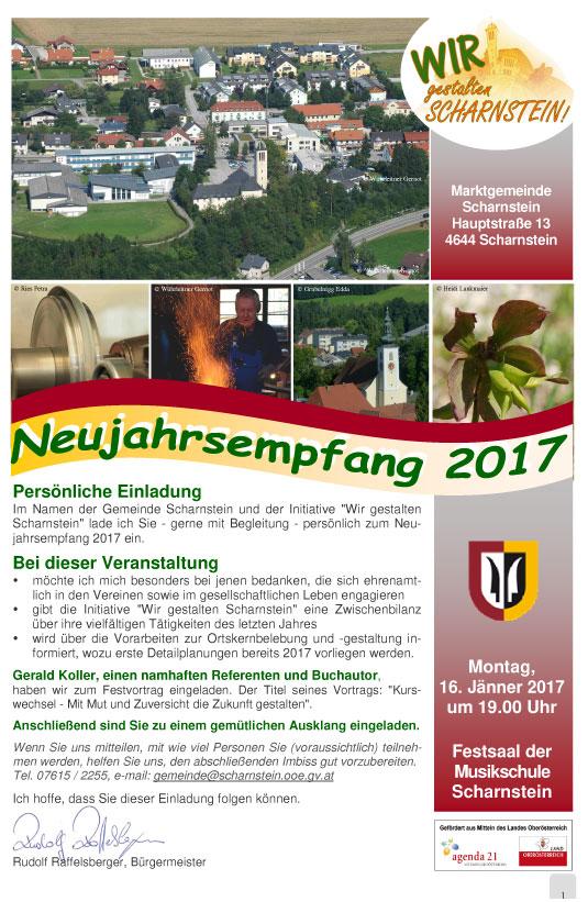 Neujahrsemfpang Gemeinde Scharnstien